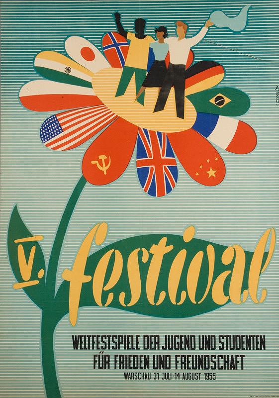 István Czeglédi – V. festival. Weltfestspiele der Jugend und Studenten. Für Frieden und Freundschaft