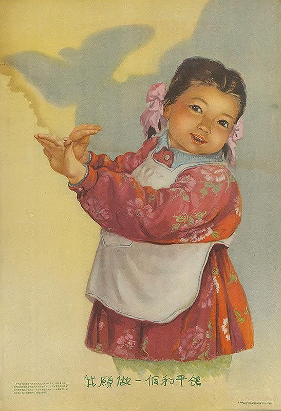 Čínsky autor - Chcem spraviť holubicu mieru.