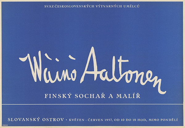 Český autor - Fínsky sochár a maliar Waino Aaltonen