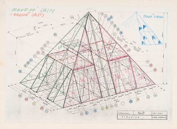 Aleš Votava - Gluck Christoph Willibald: Orfeus a Eurydika - Technický rozkres pyramídy