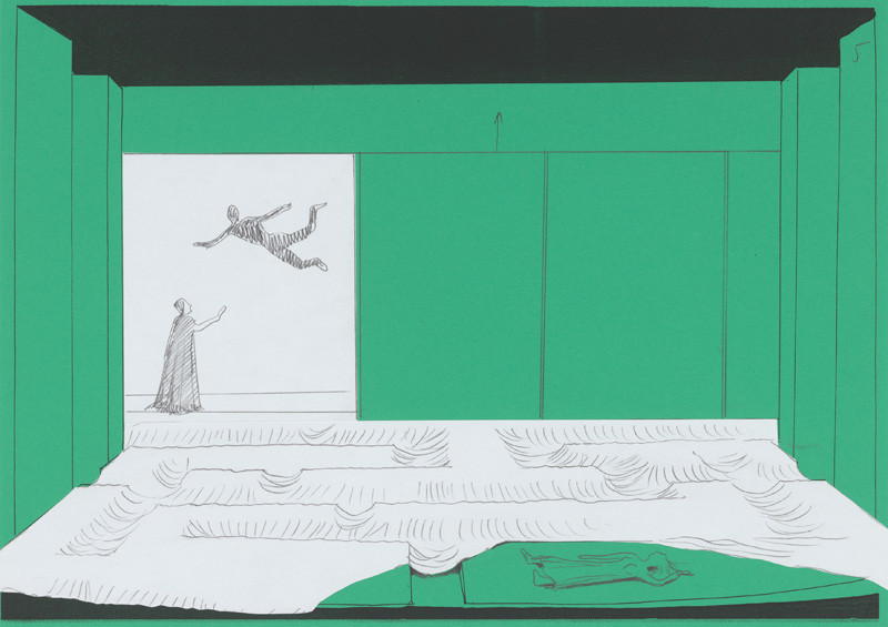 Aleš Votava. Scénický návrh k inscenácii: William Shakespeare: Búrka, 2000, Slovenské národné divadlo, réžia: Peter Mikulík. Slovenská národná galéria.