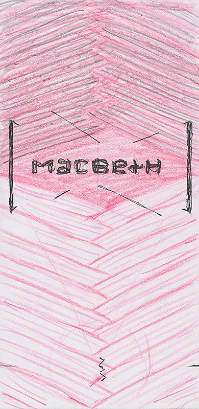 Emil Drličiak – W. Shakespeare: Macbeth. Grafický dizajn sprievodných prvkov