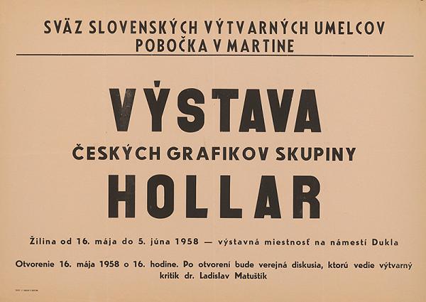 Slovenský autor – Výstava českých grafikov skupiny Hollar