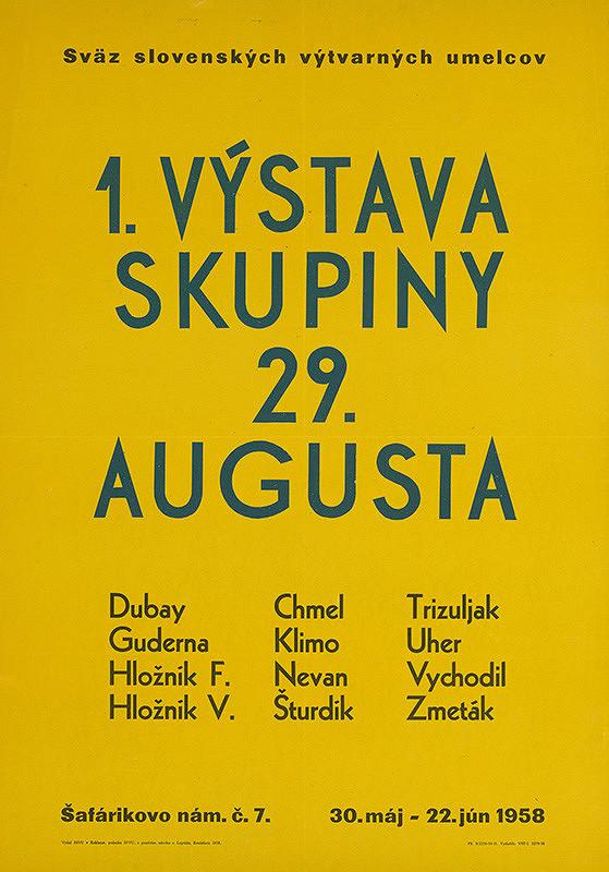 Oto Lupták – I.výstava skupiny 29.augusta
