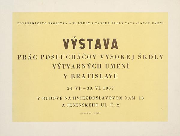 Slovenský autor – Výstava prác poslucháčov VŠVU