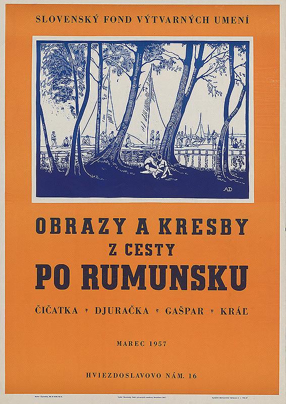 Anton Djuračka - Obrazy a kresby z cesty po Rumunsku