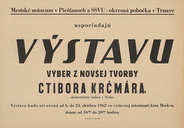 Slovenský autor – Výstava Ctibora Krčmára