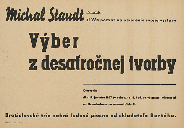 Slovenský autor - Michal Staudt-výber z 10-ročnej tvorby