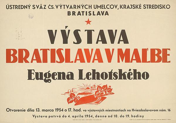 Slovenský autor - Výstava - Bratislava v maľbe E.Lehotského