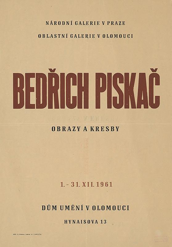 Olomoucký autor – Obrazy,kresby-Bedřich Piskáč