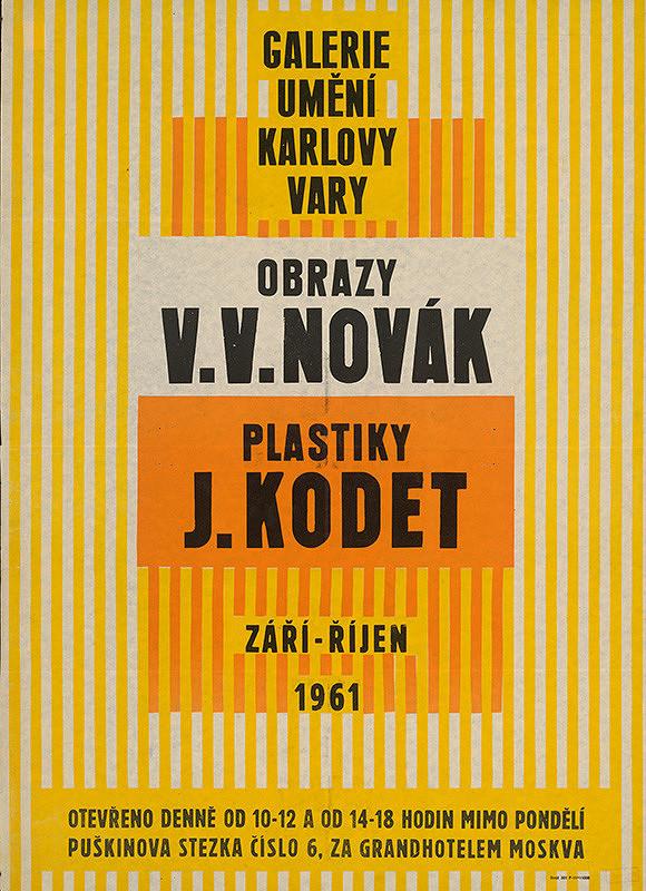 Karlovarský autor – Obrazy-V.V.Novák, Plastika - J.Kodet