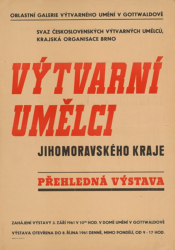 Gottwaldovský autor - Výtvarní umelci Juhomoravského kraja
