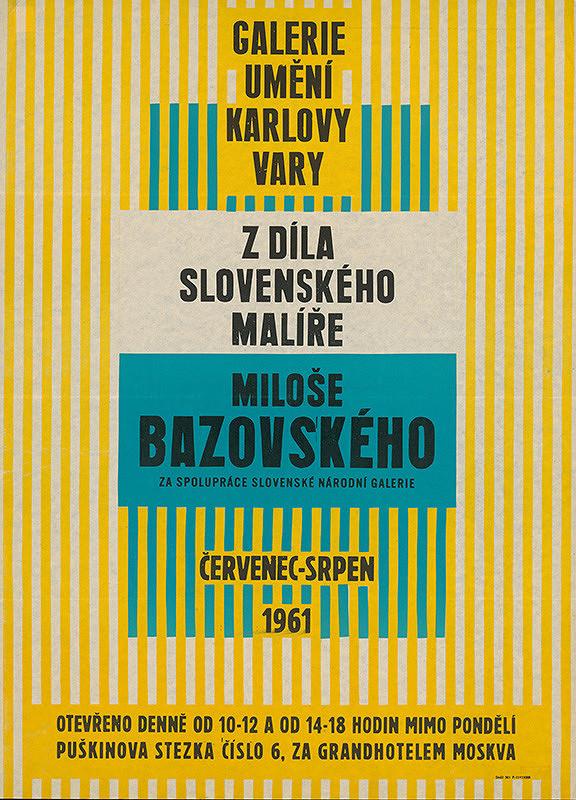 Karlovarský autor – Z diela slovenského maliara Miloša Bazovského