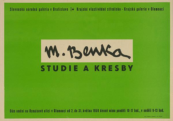 Olomoucký autor – M.Benka - štúdie,kresby