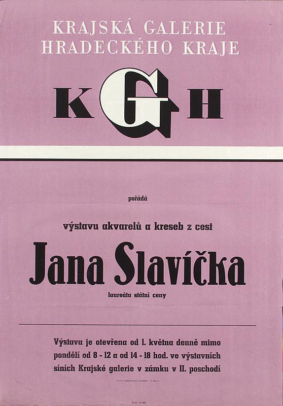 Český autor - Výstava akvarelov - Jan Slavíček