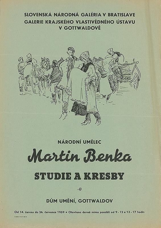Moravský autor - Štúdie a kresby - Martin Benka