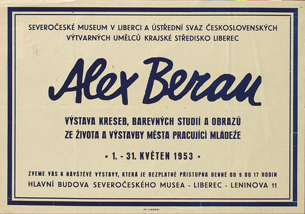 Český autor - Výstava kresieb, obrazov - Alex Beran