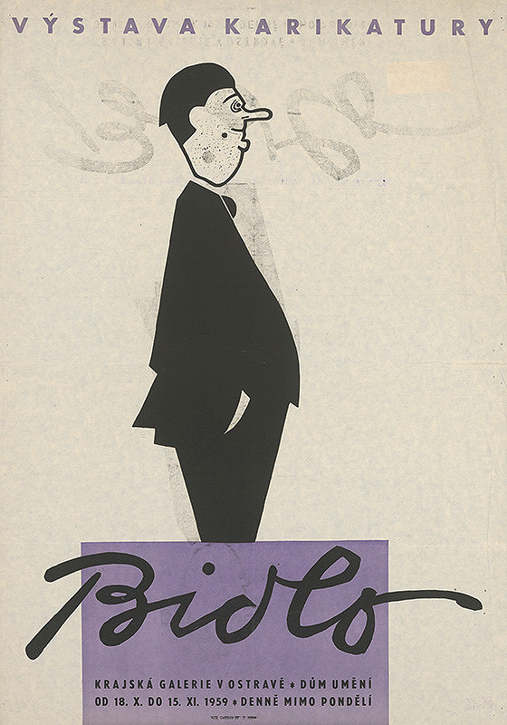 Moravský autor - Výstava karikatúry - Bidlo