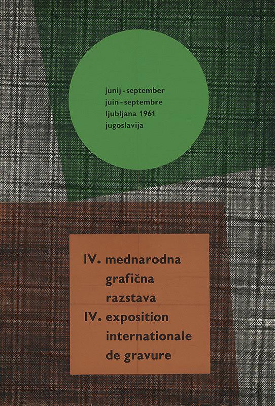 Juhoslovanský autor - IV.Medzinárodná grafická výstava