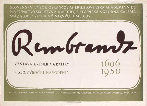 Anton Hollý – Výstava kresieb a grafiky Rembrandt