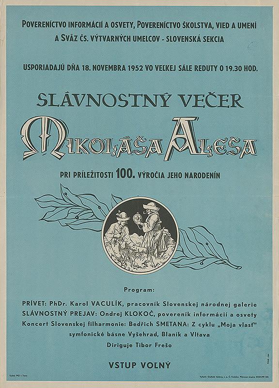 Slovenský autor - Slávnostný večer Mikoláša Aleša