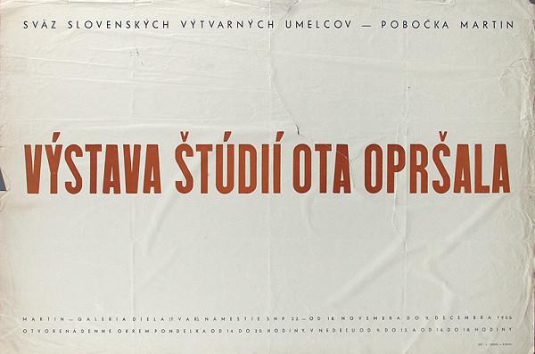 Slovenský autor – Výstava štúdií Ota Opršala