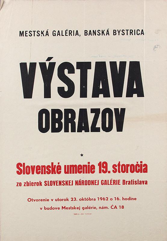 Slovenský autor - Výstava obrazov - slovenské umenie XIX.storočia