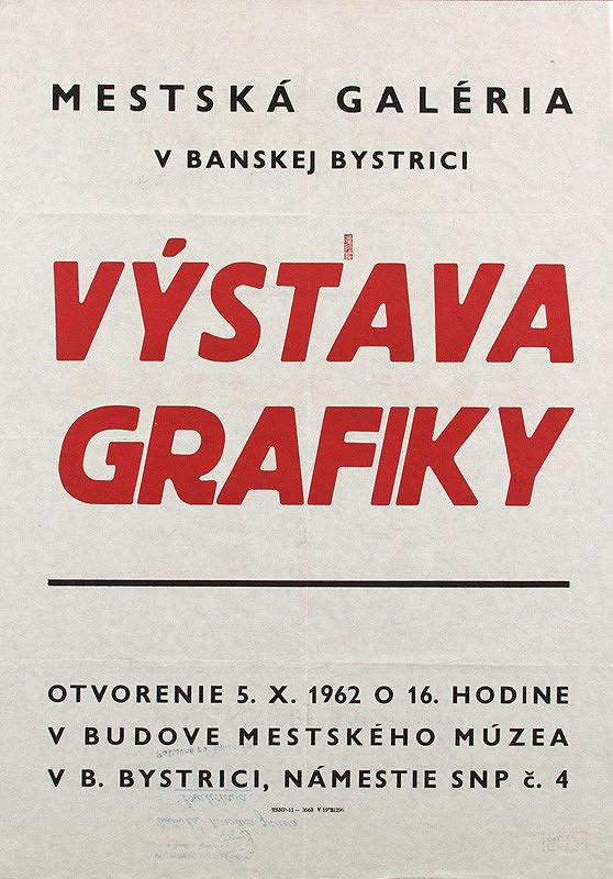 Slovenský autor – Výstava grafiky