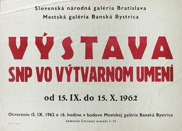 Slovenský autor - Výstava SNP vo výtvarnom umení