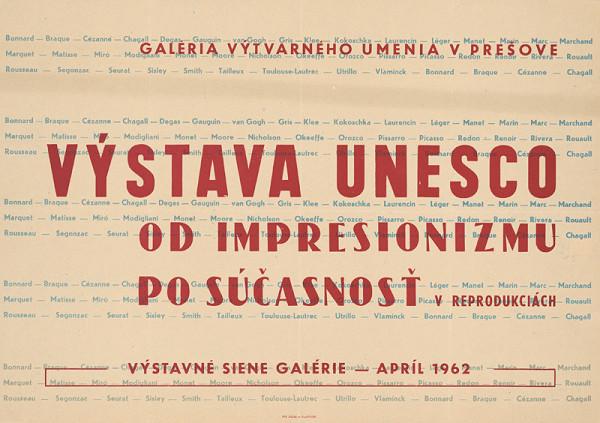 Slovenský autor – Výstava Unesco - od impresionizmu po súčasnosť v reprodukciách