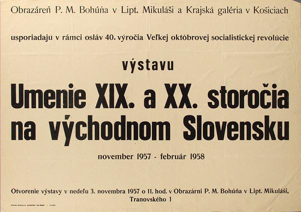 Slovenský autor - Umenie XIX. a XX.storočia na východnom Slovensku