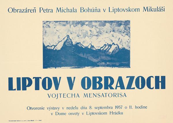 Slovenský autor - Liptov v obrazoch Vojtecha Mensatorisa