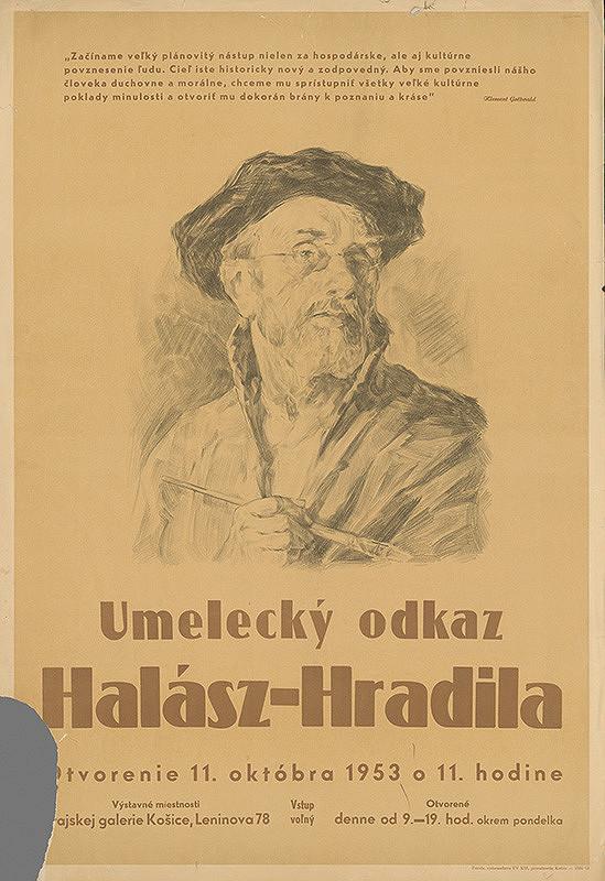 Košický autor - Umelecký odkaz - Halász  - Hradila