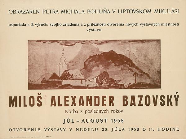 Slovenský autor - Miloš Alexander Bazovský