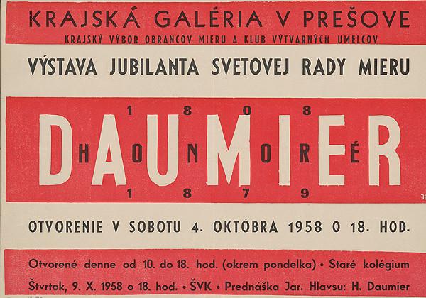 Slovenský autor – Výstava jubilanta svetovej rady mieru. Honoré Daumier