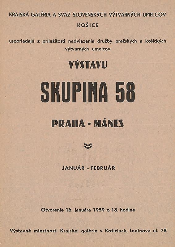 Slovenský autor – Výstava - Skupina 58