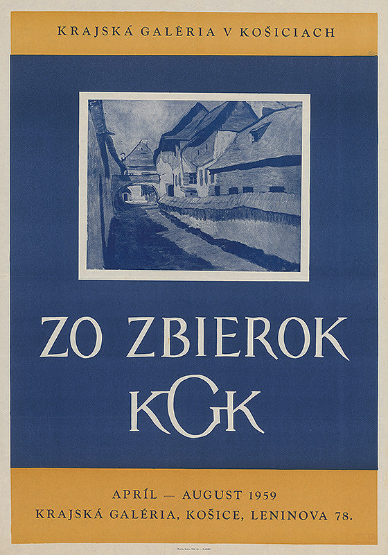 Košický autor - Zo zbierok Krajskej galérie v Košiciach