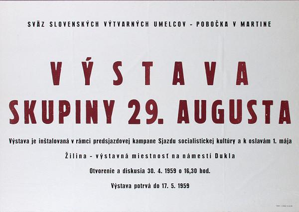 Slovenský autor – Výstava skupiny 29.augusta