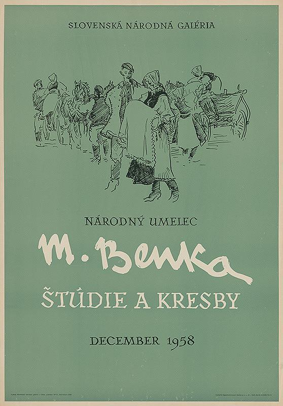 Slovenský autor - Štúdie a kresby - M.Benka
