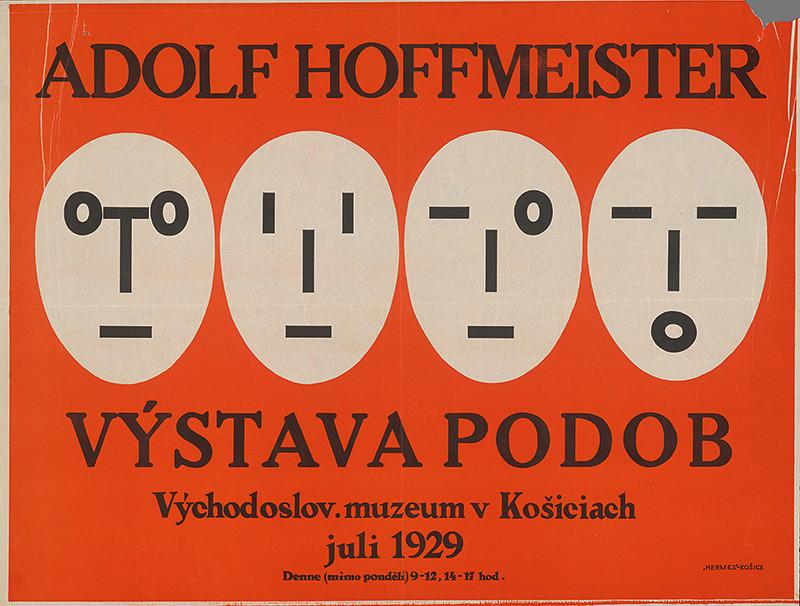 Adolf Hoffmeister – Výstava podob, Východoslovenské múzeum v Košiciach, 1929, Slovenská národná galéria