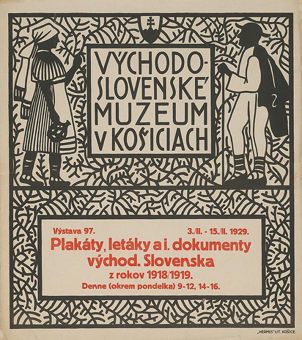 Košický autor - Plagáty,letáky a iné dokumenty východného Slovenska z rokov 1918-1919
