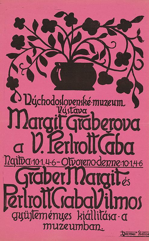 Neznámy autor - Výstava Margit Graberová a V. Perlrott Čaba