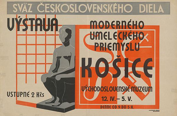 Košický autor, Ľudovít Fulla - Výstava moderného umeleckého priemyslu. Sväz československého diela, Východoslovenské muzeum, Košice