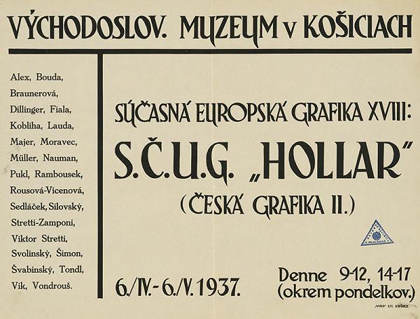 Košický autor z 1. tretiny 20. storočia – Súčasná európska grafika XVIII SČUG - Hollar