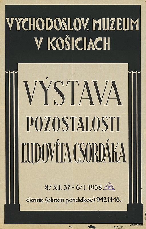 Košický autor - Výstava pozostalostí Ľudovíta Csordáka