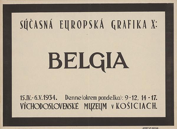 Košický autor - Súčasná europska grafika X: Belgia. Východoslovenské muzeum v Košiciach