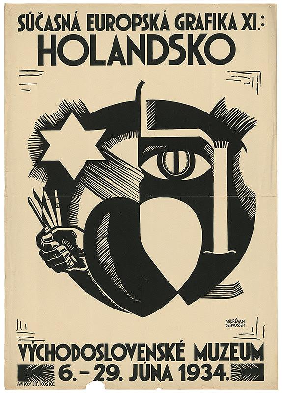 André van der Vossen – Súčasná európska grafika XI: Holandsko. Východoslovenské muzeum v Košiciach