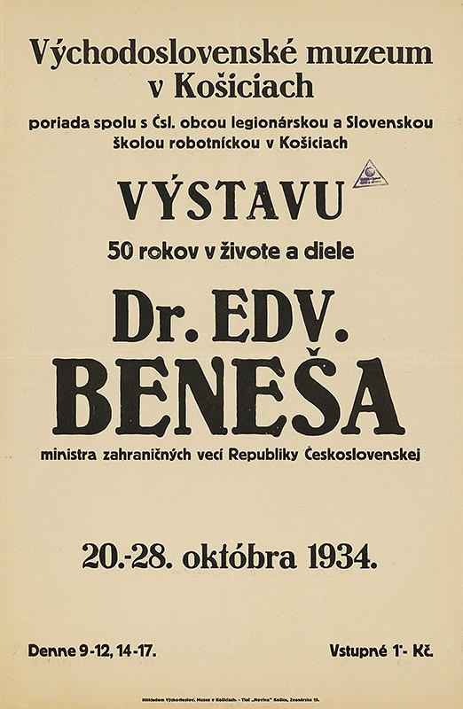 Košický autor - 50.rokov v živote a diele Dr.Eduarda Beneša