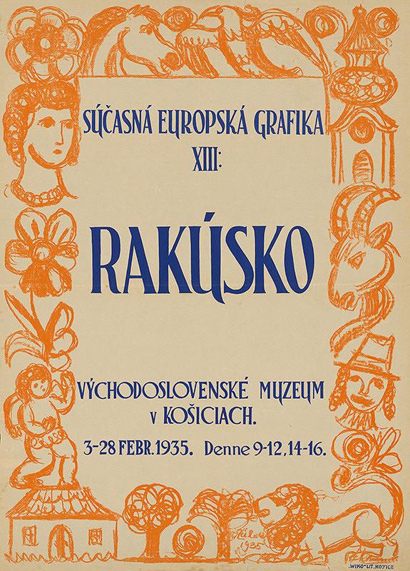 Rakúsky autor - Súčasná európska grafika XIII Rakúsko