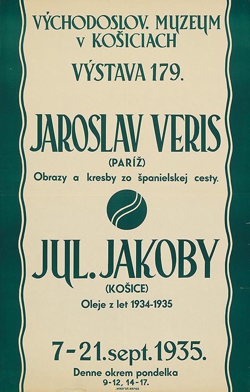 Košický autor - Jaroslav Veris - obrazy a kresby zo španielskej cesty Jakoby-oleje z r.1934-35